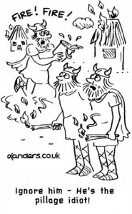village idiot viking cartoon