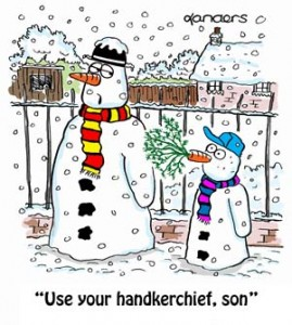 funny christmas snowman