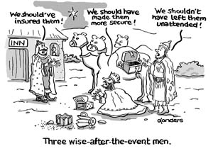 3 wise men christmas cartoon