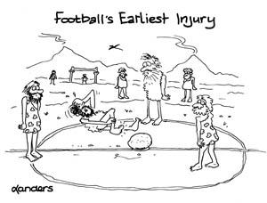 football injury cartoon