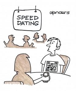 speed dating cartoon