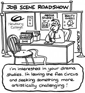 College Recruitment Newsletter Cartoon