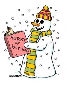 Visual Gag Cartoon knitting