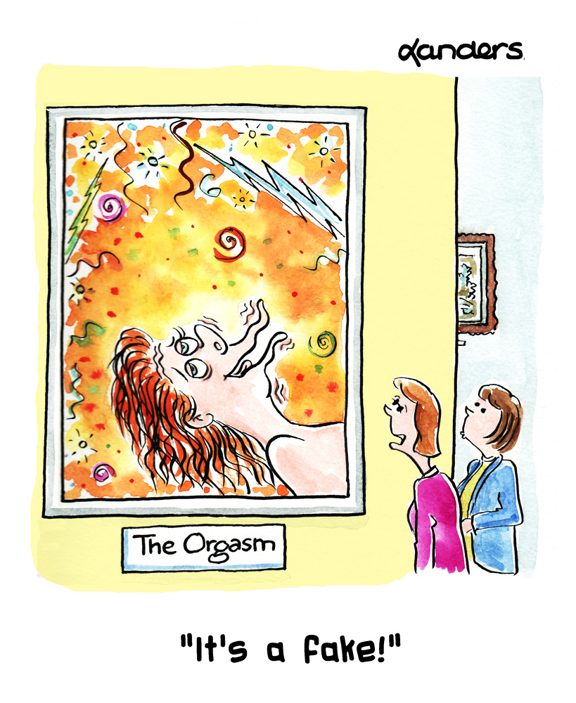 orgasm cartoon