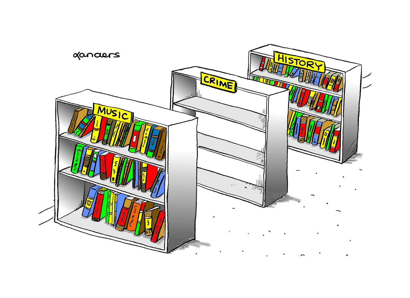 library cartoon